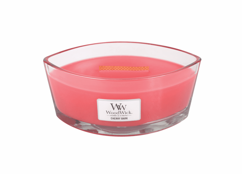 _DISCONTINUED - Cherry Bark WoodWick Candle 16 oz.  HearthWick Flame