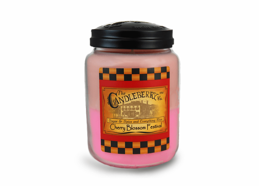_DISCONTINUED - Cherry Blossom Festival 26 oz. Large Jar Candleberry Candle