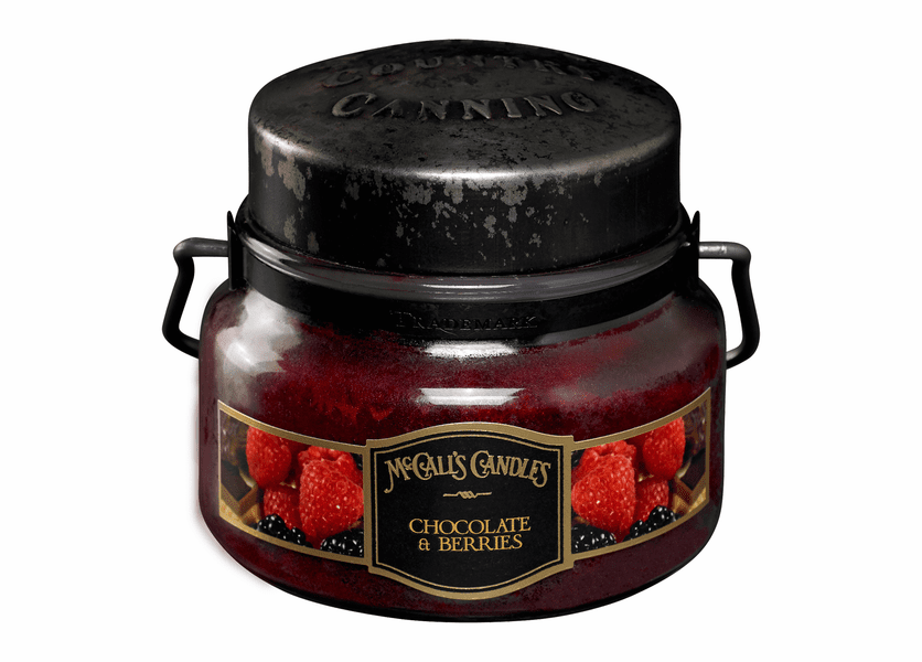 _DISCONTINUED - Chocolate & Berries 8 oz. McCall's Double Wick Classic Jar Candle
