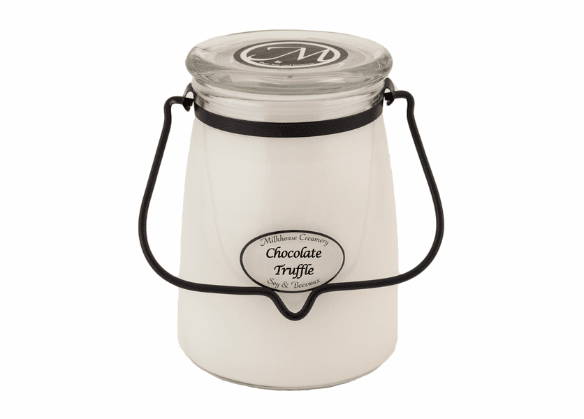 _DISCONTINUED - Chocolate Truffle 22 oz. Butter Jar Candle by Milkhouse Candle Creamery