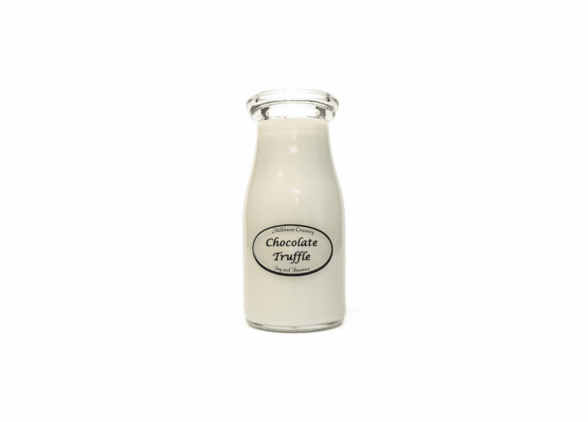 _DISCONTINUED - Chocolate Truffle 8 oz. Milkbottle Candle by Milkhouse Candle Creamery