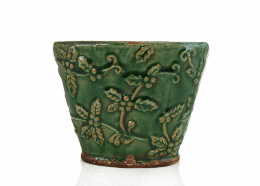 _DISCONTINUED - *Christmas Balsam Holiday Flared Vase (Color: Green)