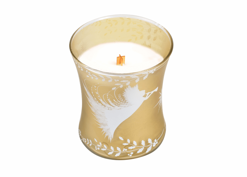 _DISCONTINUED - *Christmas Cake Classic Holiday Medium Hourglass WoodWick Candle