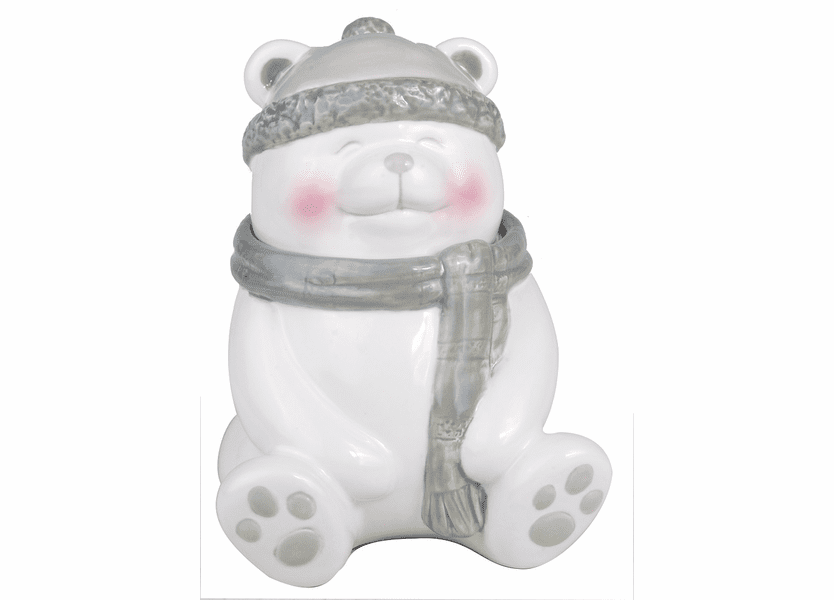 _DISCONTINUED - *Christmas Cake Holiday Bear Figural WoodWick Candle