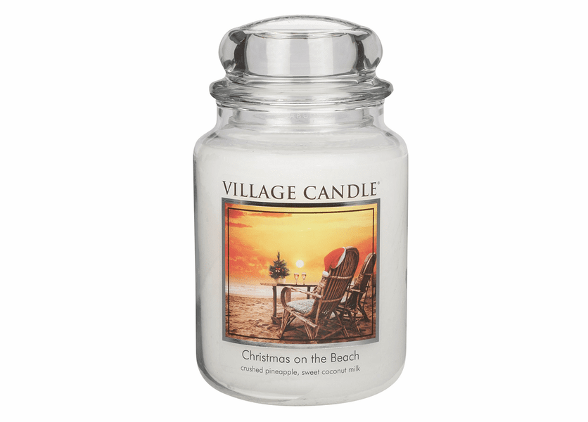 _DISCONTINUED - *Christmas on the Beach 26 oz. Premium Round by Village Candles