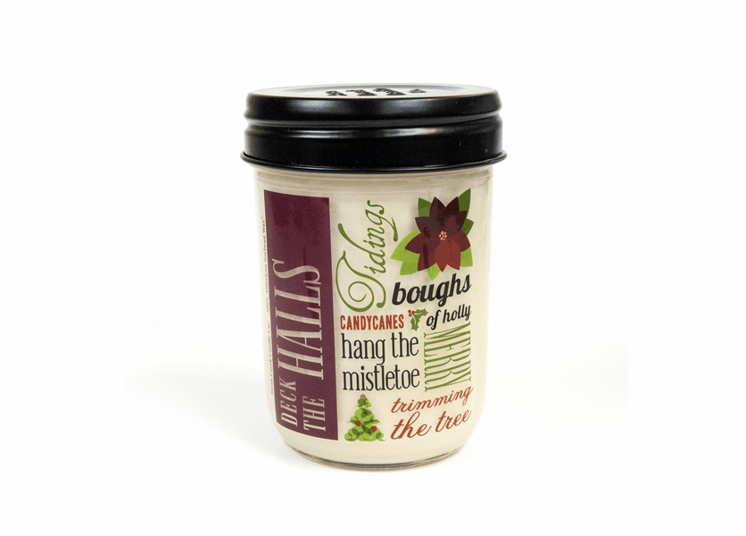 _DISCONTINUED - Christmas Spiced Wine 12 oz. Holiday Vintage Jar Candle (Label: Deck the Halls)