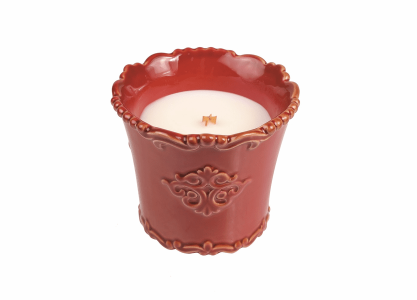 _DISCONTINUED - *Cinnabark Holiday Vintage Ceramic Tumbler WoodWick Candle
