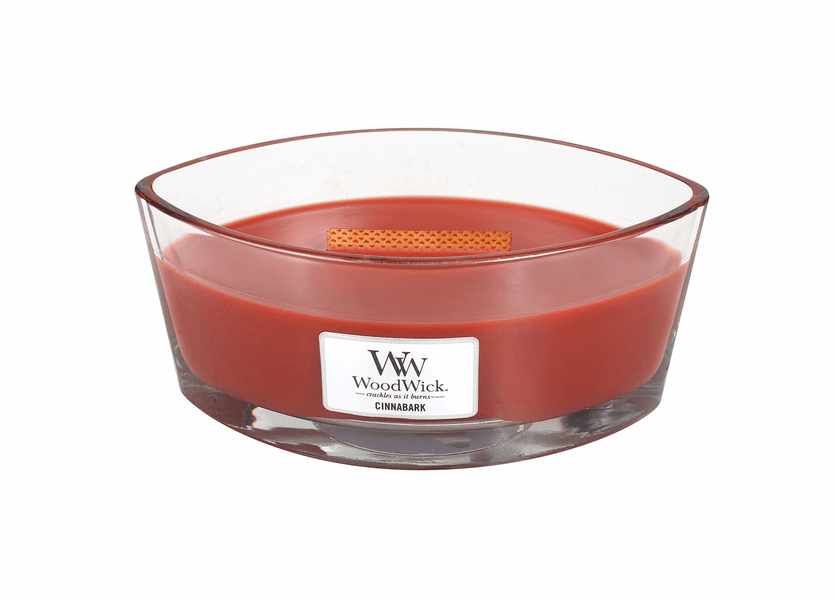 _DISCONTINUED - Cinnabark WoodWick Candle 16 oz. HearthWick Flame