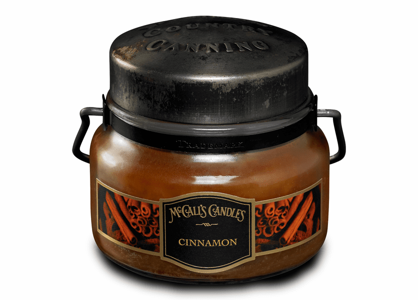 _DISCONTINUED - Cinnamon 8 oz. McCall's Double Wick Classic Jar Candle