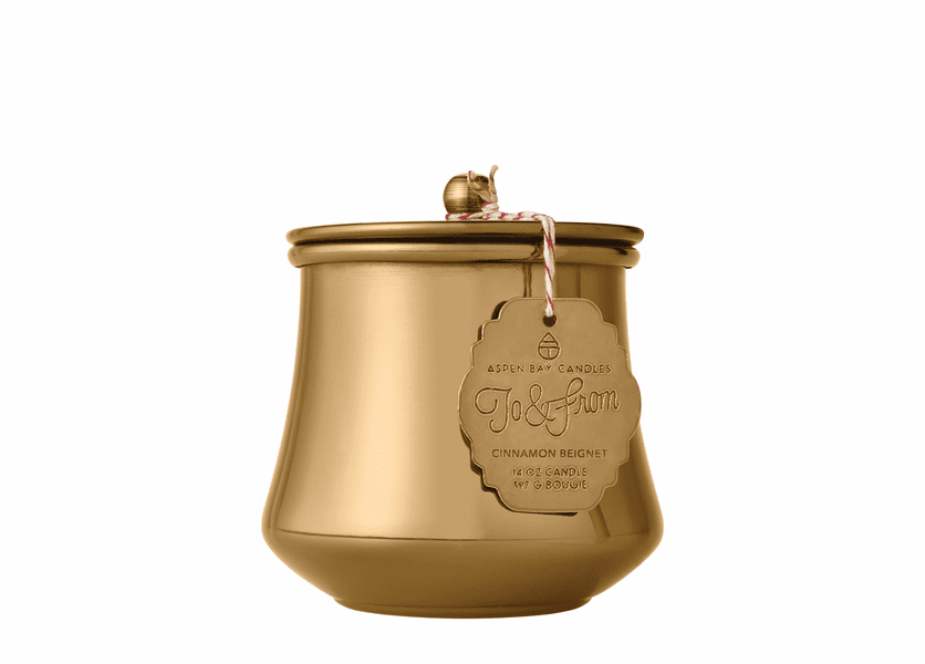 _DISCONTINUED - Cinnamon Beignet 6 oz. Holiday Tin by Aspen Bay Candles
