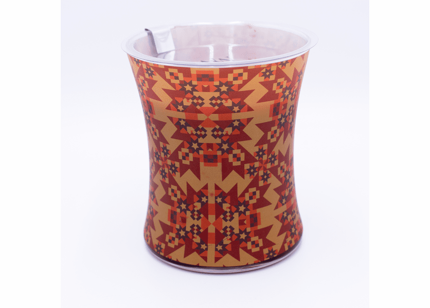 _DISCONTINUED - Cinnamon Chai Decal Glass WoodWick Candle