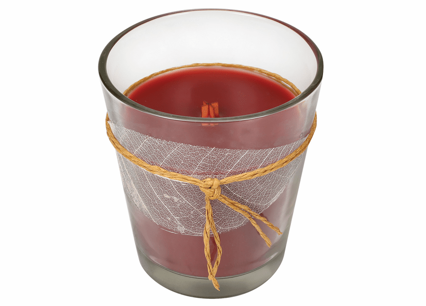 _DISCONTINUED - *Cinnamon Chai Leaf Collection Glass Jar WoodWick Candle