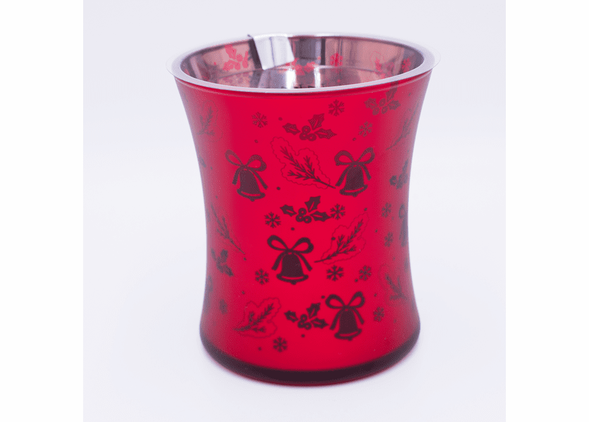_DISCONTINUED - Cinnamon Cheer Dancing Glass WoodWick Candle
