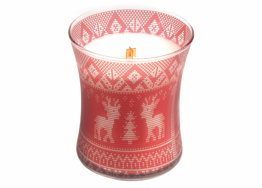 _DISCONTINUED - *Cinnamon Cheer Holiday Comforts Sweater Hourglass WoodWick Candle