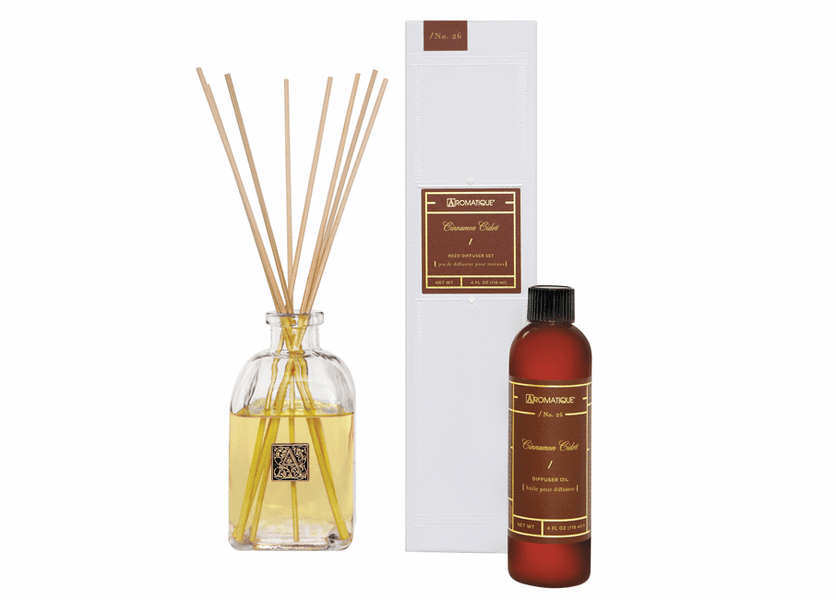 _DISCONTINUED - Cinnamon Cider 4 oz. Reed Diffuser Set by Aromatique