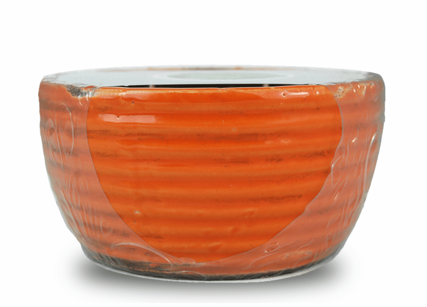 _DISCONTINUED - Cinnamon Hazelnut Latte Swan Creek Ribbed Bowl Candle (Color: Orange)