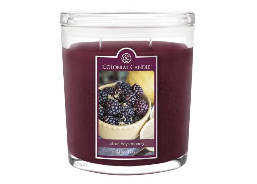 _DISCONTINUED - Citrus Boysenberry 22 oz. Oval Jar Colonial Candle
