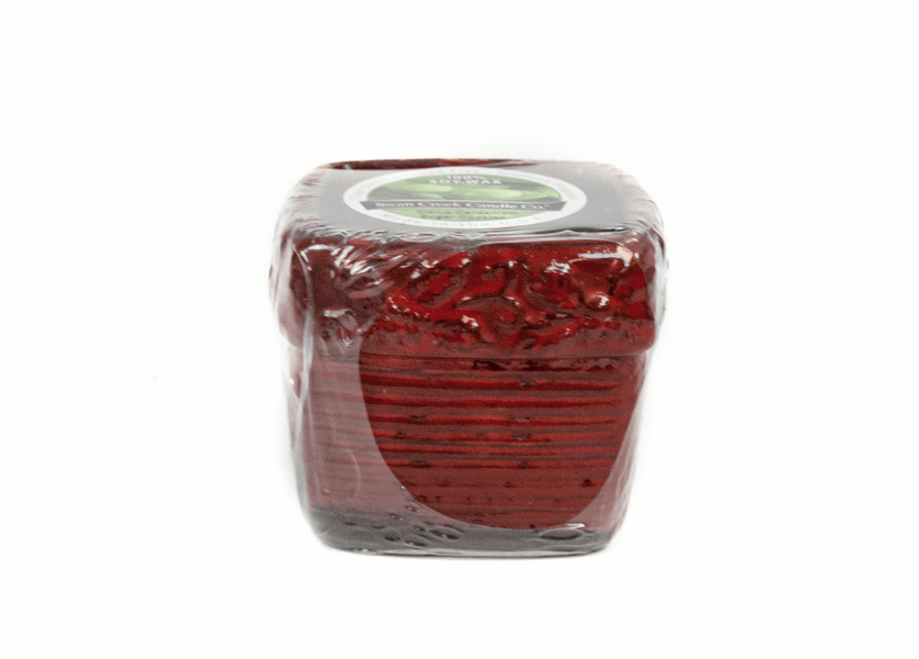 _DISCONTINUED - Citrus-Cardamom Sugar Cookies Holiday Ribbed Square Pot  (Color: Red)