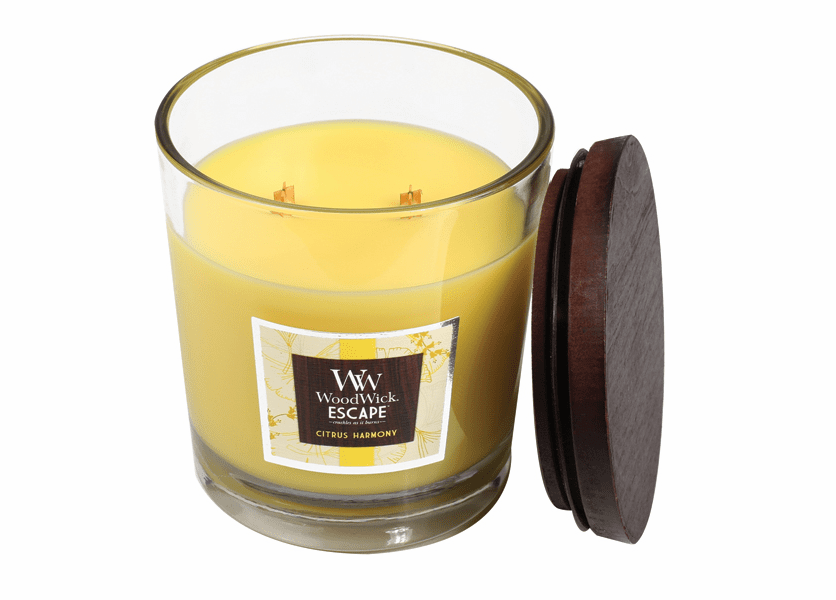 _DISCONTINUED - Citrus Harmony WoodWick Escape Large 2-Wick Jar Candle