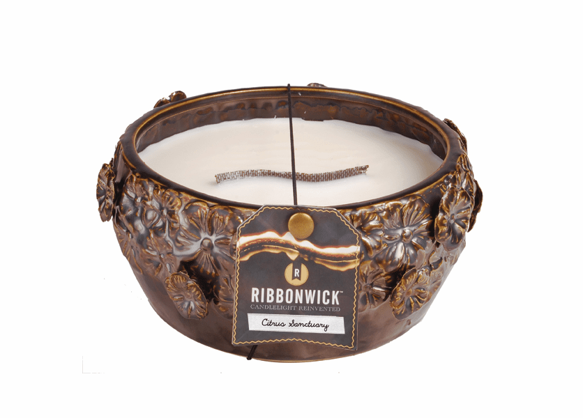 _DISCONTINUED - Citrus Sanctuary - Large Round RibbonWick Candle
