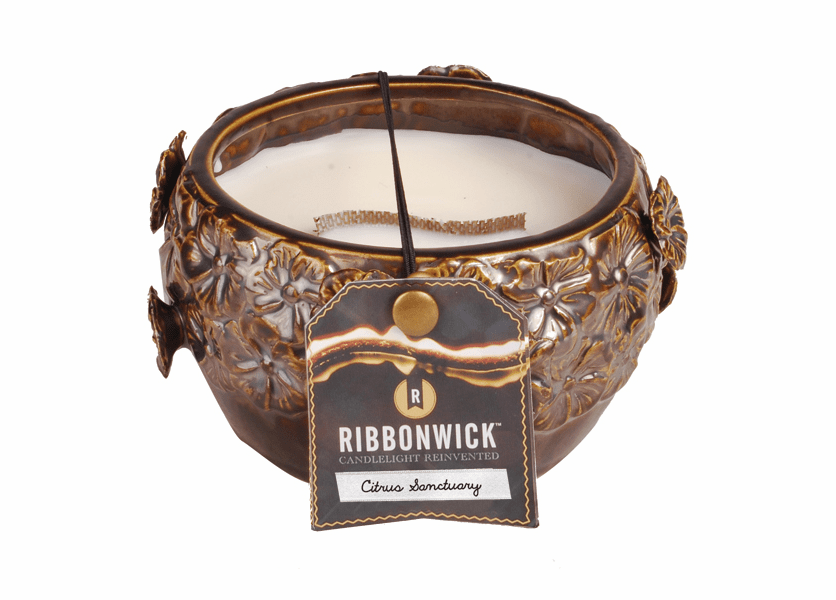 _DISCONTINUED - Citrus Sanctuary - Medium Round RibbonWick Candle