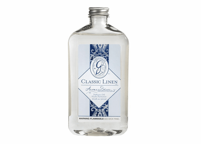 _DISCONTINUED - Classic Linen 500ml Aroma Decor Fragrance Lamp Oil by Greenleaf