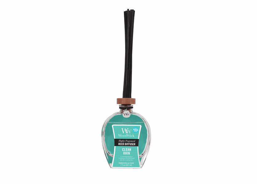_DISCONTINUED - Clean Rain WoodWick 7 oz. Reed Diffuser