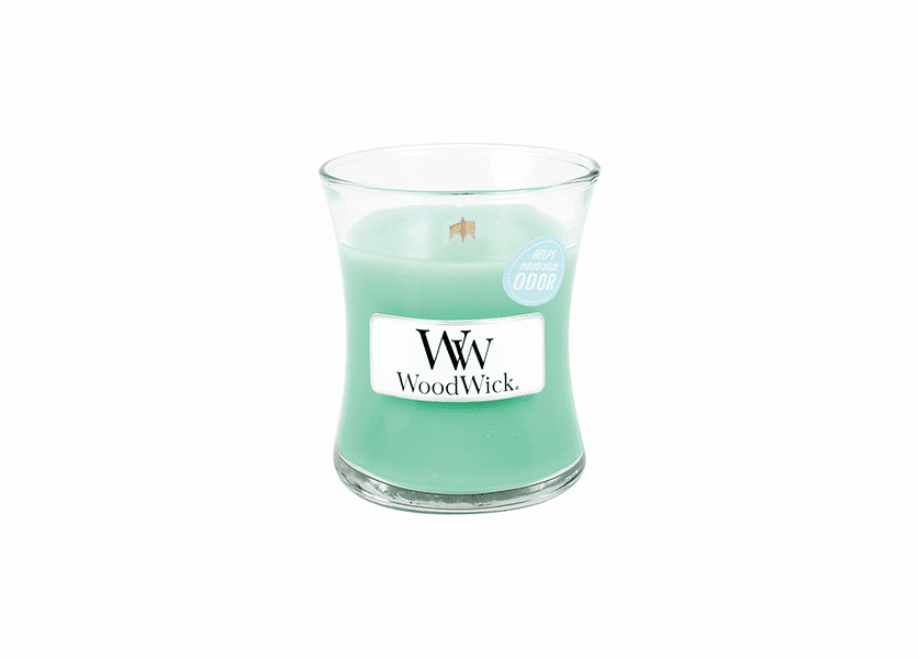 _DISCONTINUED - Clean Rain WoodWick ODOR NEUTRALIZING Candle 3.4oz.