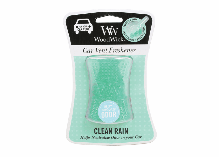 _DISCONTINUED - Clean Rain WoodWick ODOR NEUTRALIZING Car Vent Freshener