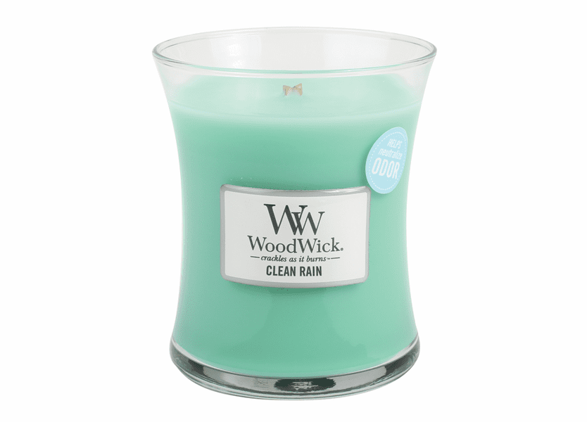 _DISCONTINUED - Clean Rain WoodWick ODOR NEUTRALIZING Medium Candle