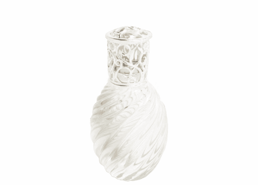 _DISCONTINUED - Clear Ice Art Glass Series Fragrance Lamp by Alexandria's