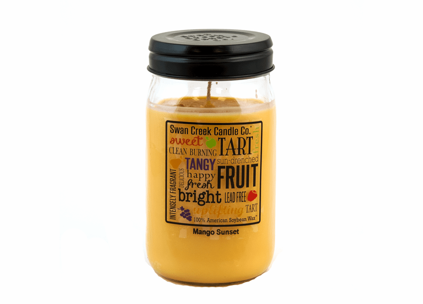 _DISCONTINUED - CLOSEOUT - Mango Sunset 24 oz. Swan Creek Kitchen Pantry Jar Candle