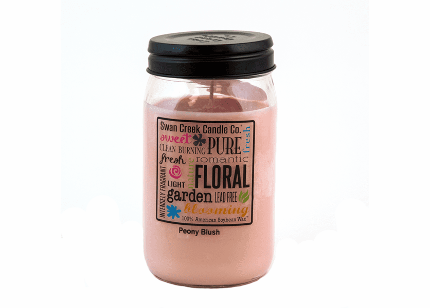 _DISCONTINUED - CLOSEOUT - Peony Blush 24 oz. Swan Creek Kitchen Pantry Jar Candle