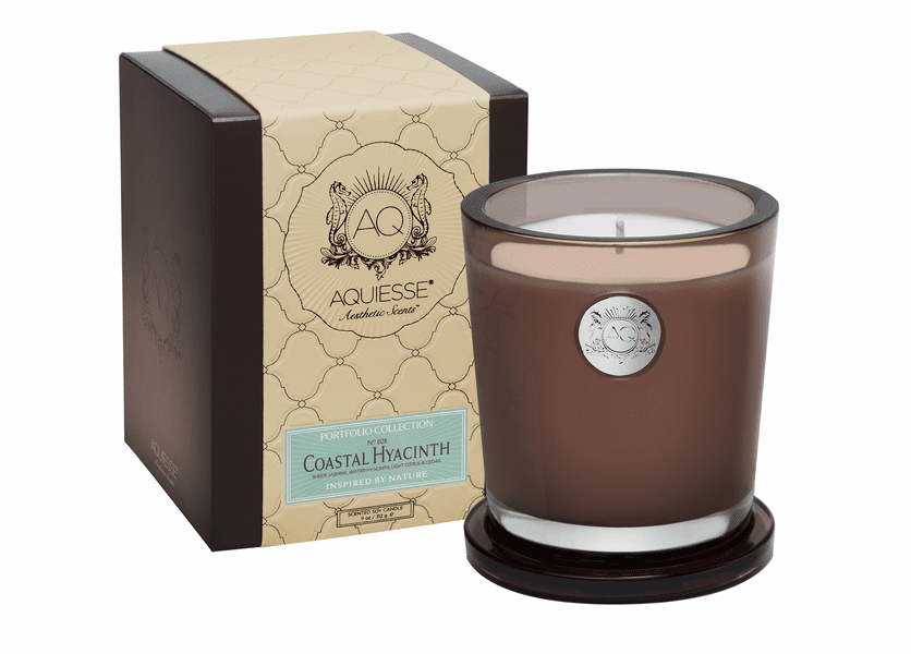 _DISCONTINUED - Coastal Hyacinth Large Soy Candle by Aquiesse