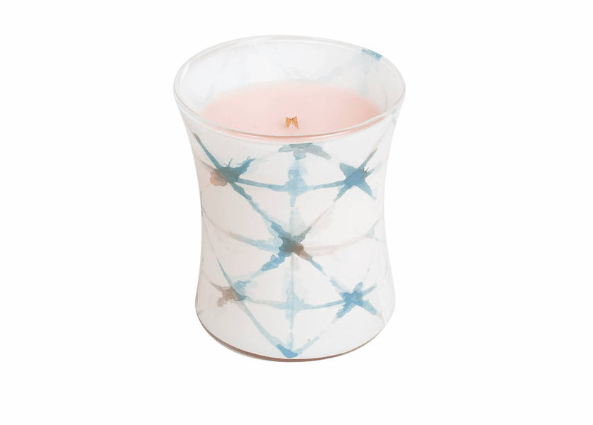 _DISCONTINUED - Coastal Sunset Decal Hourglass WoodWick Candle