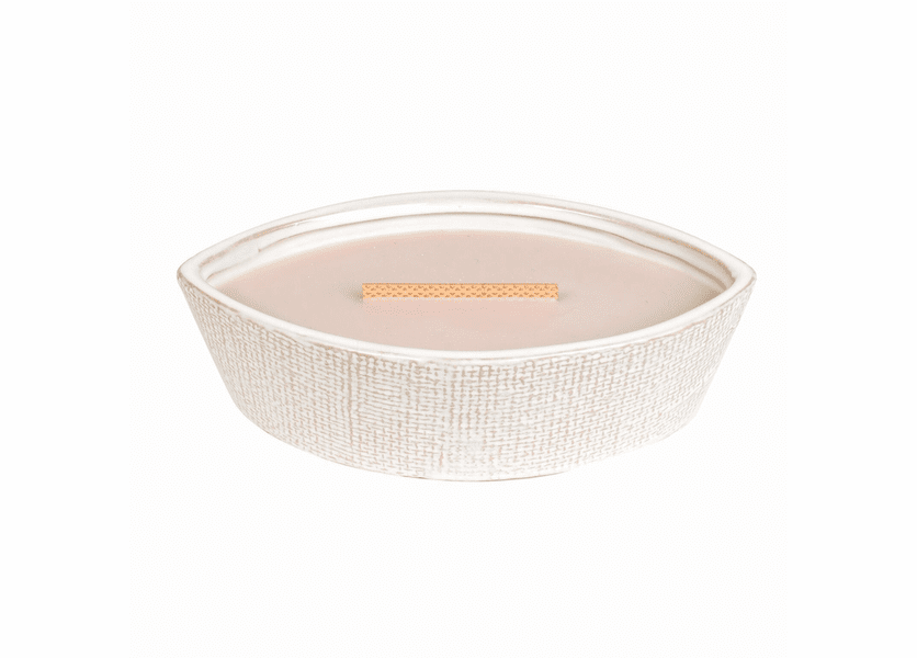 _DISCONTINUED - Coastal Sunset Textured Ellipse WoodWick Candle with HearthWick Flame