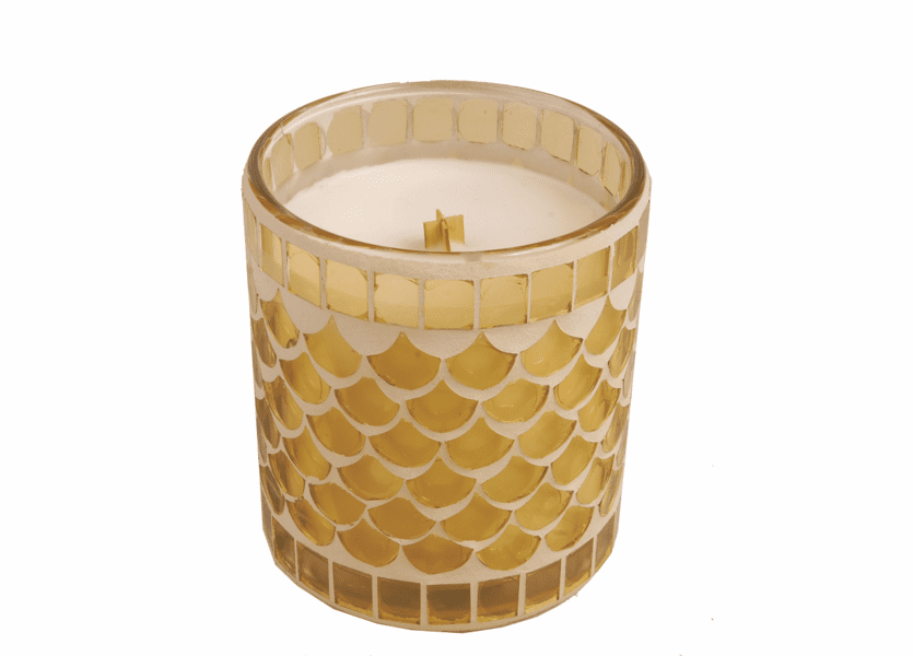 _DISCONTINUED - Coconut Hibiscus 10 oz. Mosaic Glass Jar Candle by WoodWick