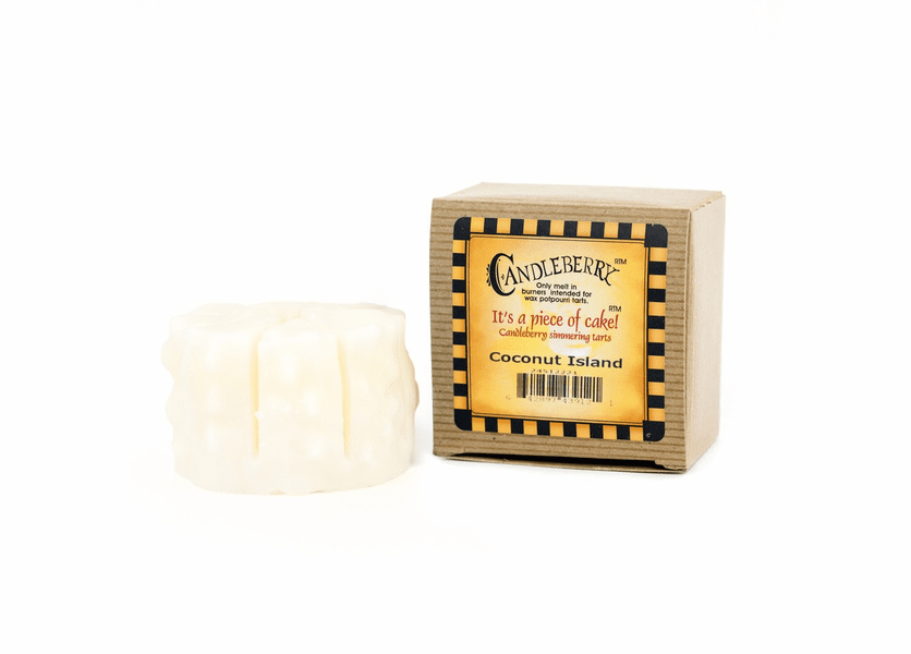 _DISCONTINUED - Coconut Island Simmering Cake Tart Candleberry Candle
