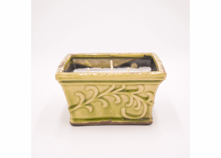_DISCONTINUED - Coconut Lime English Garden Large Square Swan Creek Candle (Color: Lime)