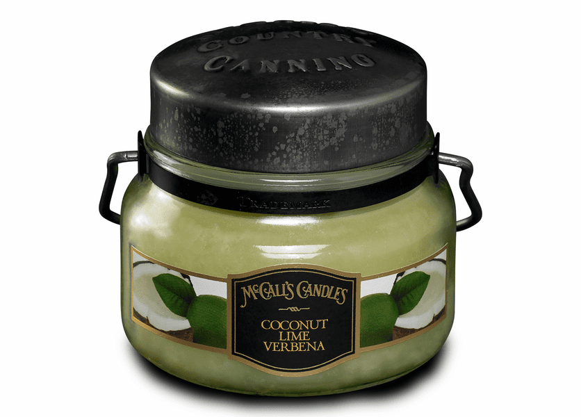 _DISCONTINUED - Coconut Lime Verbena 8 oz. McCall's Double Wick Classic Jar Candle