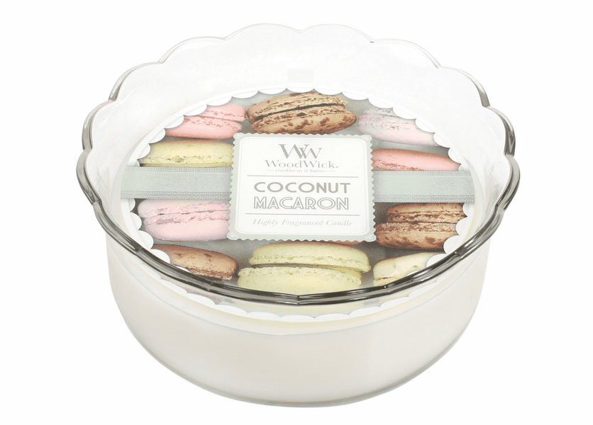 _DISCONTINUED - Coconut Macaron WoodWick Macaron Collection Candle