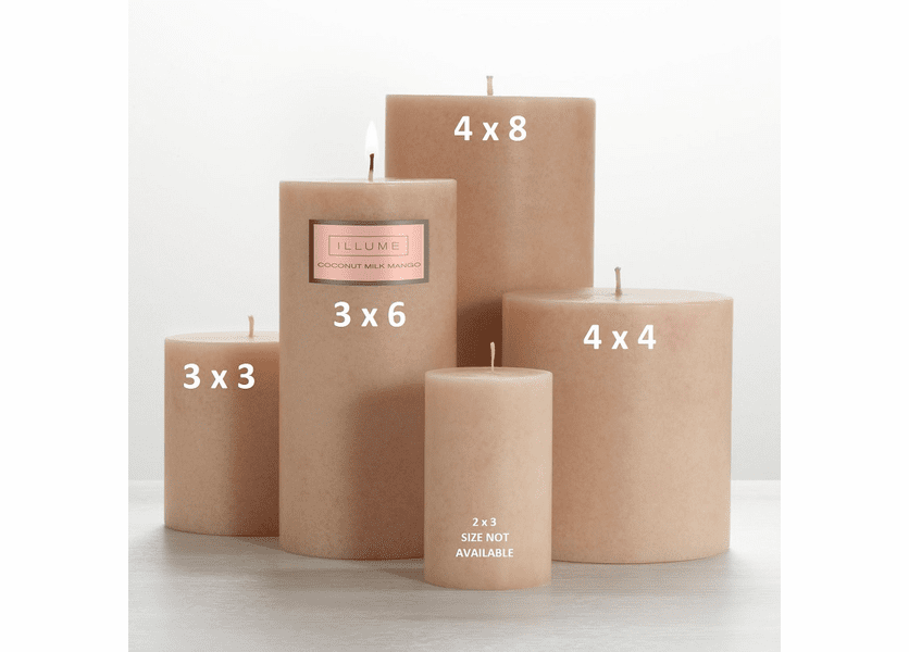 _DISCONTINUED - Coconut Milk Mango 3 x 3 Round Pillar Illume Candle