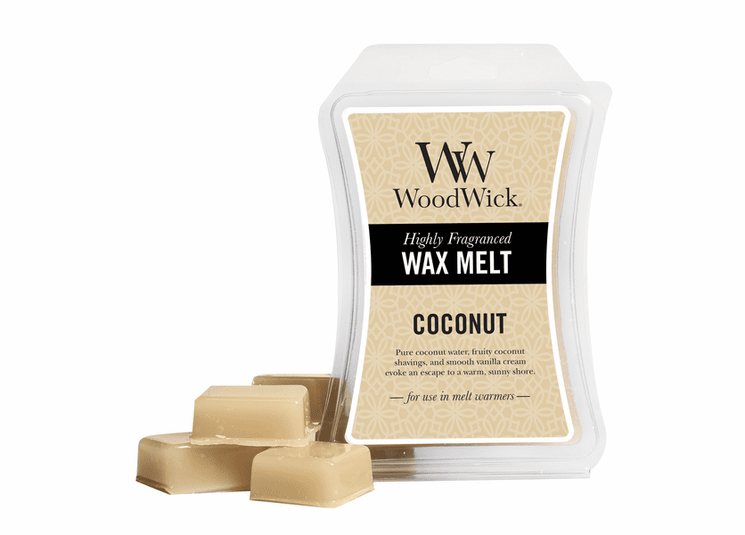 _DISCONTINUED - Coconut WoodWick 3 oz. Hourglass Wax Melt