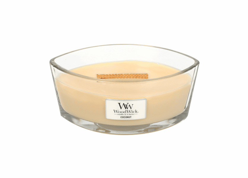 _DISCONTINUED - Coconut WoodWick Candle 16 oz. HearthWick Flame