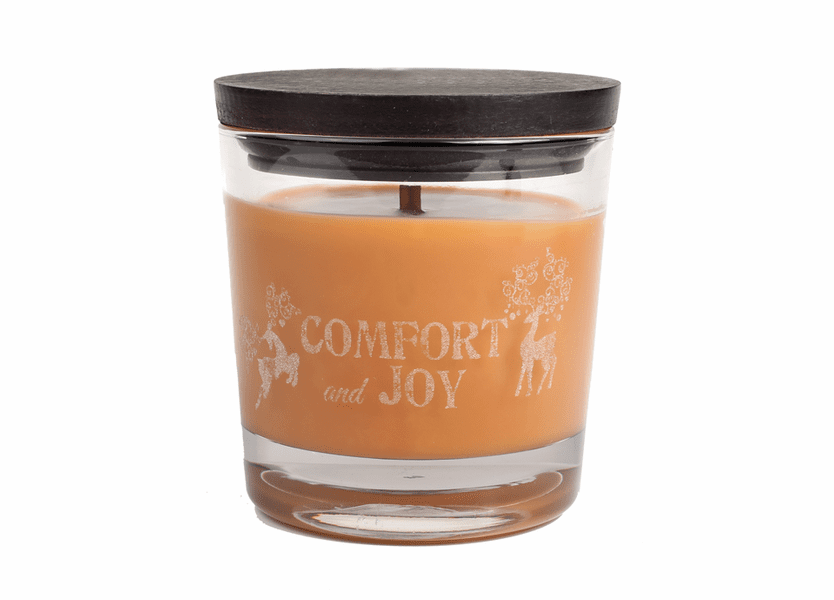 _DISCONTINUED - *Comfort & Joy WoodWick Laser Etched Medium Candle