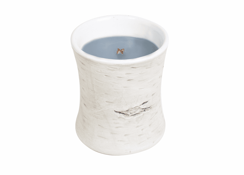 _DISCONTINUED - COMING SOON! - Evening Onyx Birch Ceramic Hourglass WoodWick Candle