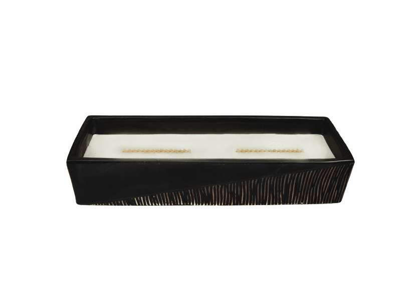 _DISCONTINUED - Cool Linen Two-Tone Large Rectangle WoodWick Candle with HearthWick Flame