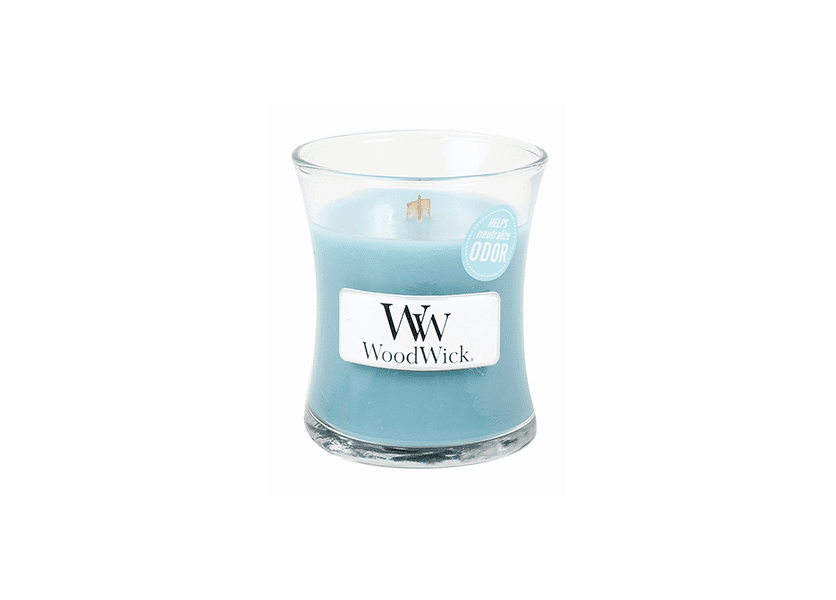 _DISCONTINUED - Cool Linen WoodWick ODOR NEUTRALIZING Candle 3.4oz.
