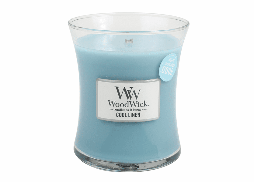 _DISCONTINUED - Cool Linen WoodWick ODOR NEUTRALIZING Medium Candle