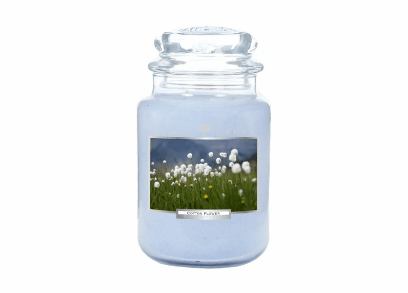 _DISCONTINUED - Cotton Flower 26 oz. Essential Series Goose Creek Jar Candle